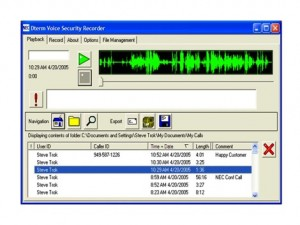 Call recording screen capture with voice waves