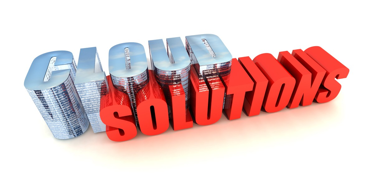 "Illustration of the words ""cloud solutions"""