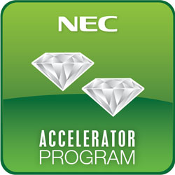 NEC Double Diamond Dealer Program Badge
